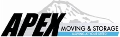 Moving company Apex Moving & Storage