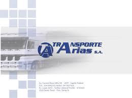 Empresa de mudanzas Transportes Arias