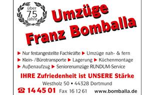 Umzugsunternehmen Umzüge Franz Bomballa