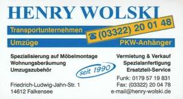 Umzugsunternehmen Wolski Henry Transportunternehmen